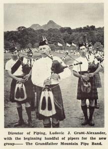 Grandfather Volunteer Bagpipe Band, 1965