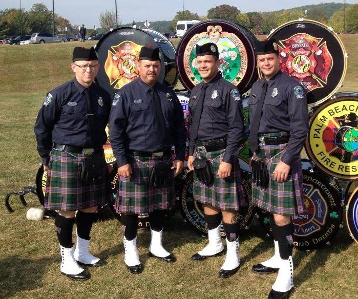 Asheville Firefighters Pipes and Drums - National Fallen Firefighter Memorial 2013