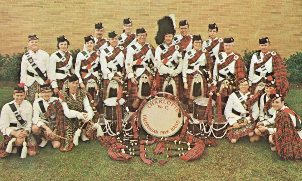 Charlotte Caledonian Pipe Band - 1969