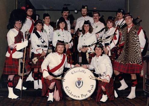 Charlotte Caledonian Pipe Band - 1981