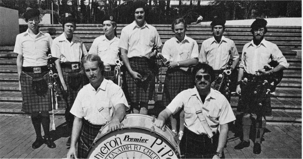 Clan Cameron Pipe Band in 1978