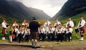 Blue Ridge Brass and Montreat Scottish 1997 Scotland